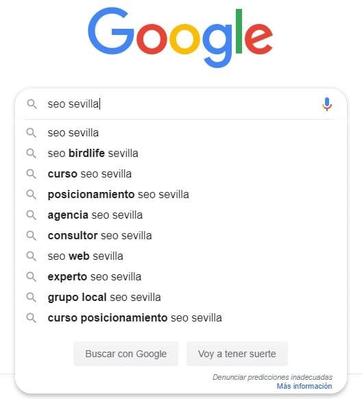 Keywords relacionadas Google